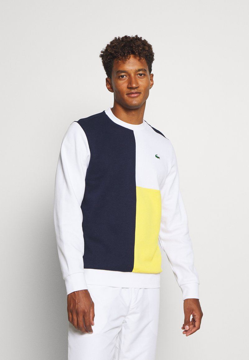 Lacoste Sport - BLOCK - Sweatshirt - navy blue/white/wasp