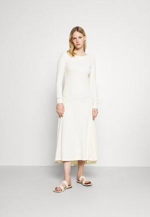 WAFFLE LONG SLEEVE DAY DRESS - Day dress - chic cream