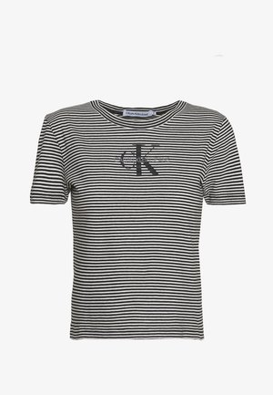 MONOGRAM STRIPE BABY - Print T-shirt - bright white