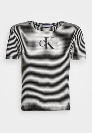 MONOGRAM STRIPE BABY - T-shirts med print - bright white