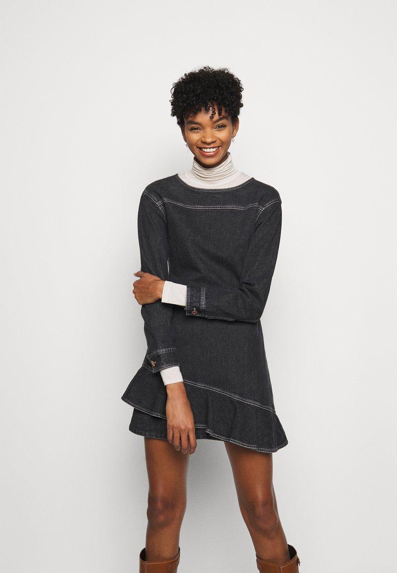 See by Chloé - Denimové šaty - black