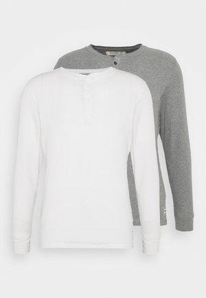 JACHENRIK 2 PACK - Pyžamový top - grey melange/blanc de blanc
