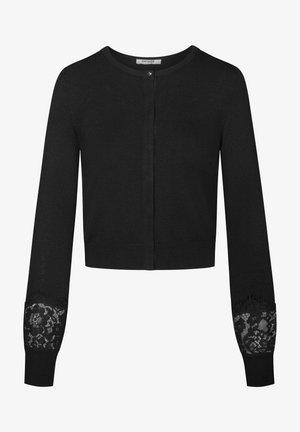 MIT SPITZE - Cardigan - schwarz
