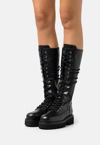Furla - RITA ARMY HIGH BOOT - Lace-up boots - nero - 0