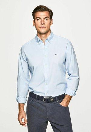 GARMENT DYED OXFORD - Formal shirt - blue