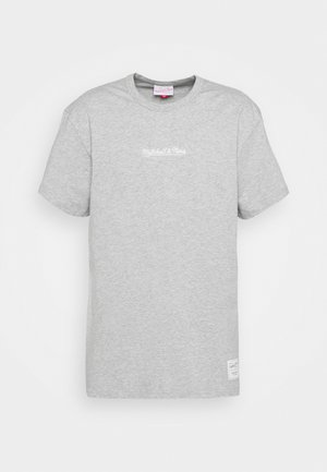 BRANDED ESSENTIALS HEAVY WEIGHT TEE - T-shirt z nadrukiem - grey heather