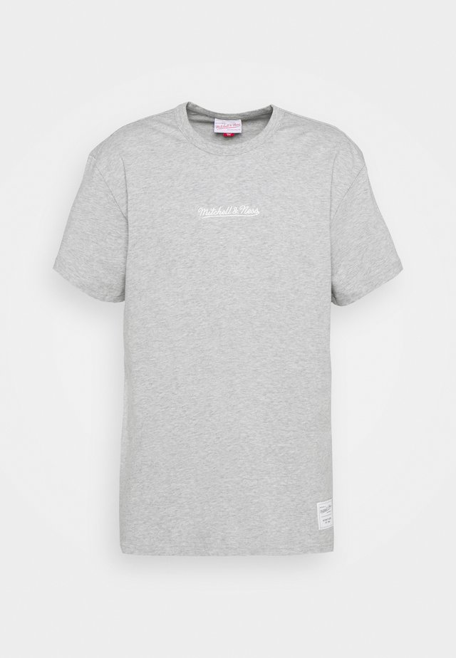 BRANDED ESSENTIALS HEAVY WEIGHT TEE - T-shirt imprimé - grey heather