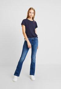 Noisy May - Flared Jeans - medium blue denim - 1