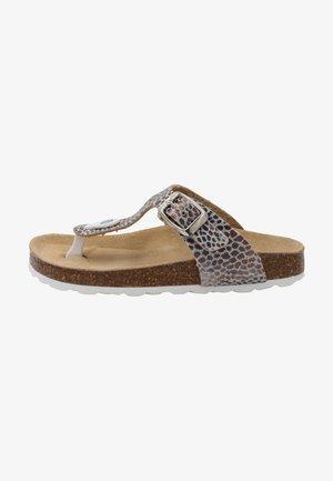 T-bar sandals - plateado