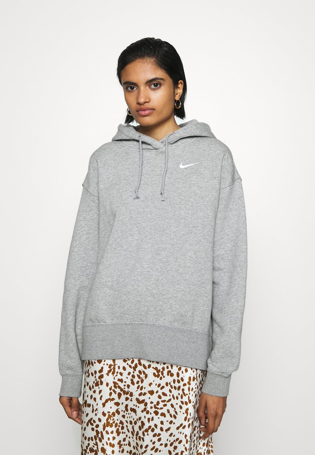 HOODIE TREND - Bluza z kapturem - dark grey heather/matte silver/white