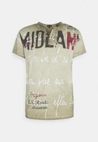 Key Largo - MIDLAND BUTTON - T-shirt con stampa - khaki - 0