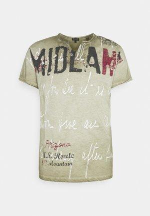 MIDLAND BUTTON - T-shirt print - khaki
