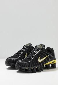 Nike Sportswear - SHOX TL - Sneakers - black/metallic silver/dynamic yellow - 3