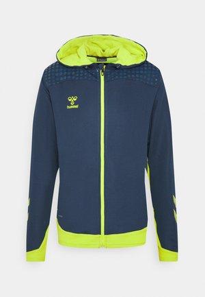 HMLLEAD ZIP HOODIE - Zip-up hoodie - dark denim
