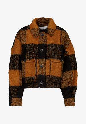 Fleece jacket - old whiskey/black