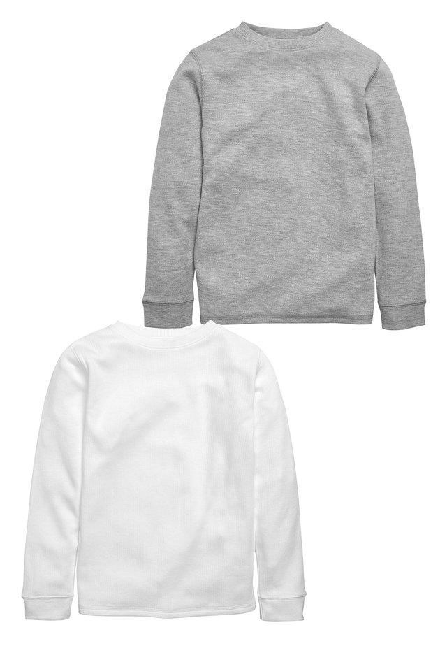 WHITE/GREY 2 PACK LONG SLEEVED THERMAL TOPS (2-16YRS) - Top sdlouhým rukávem - grey