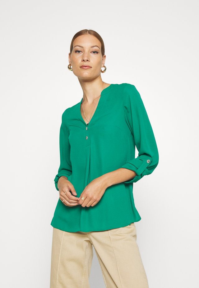 DOUBLE BUTTON ROLL SLEEVE - Blouse - green