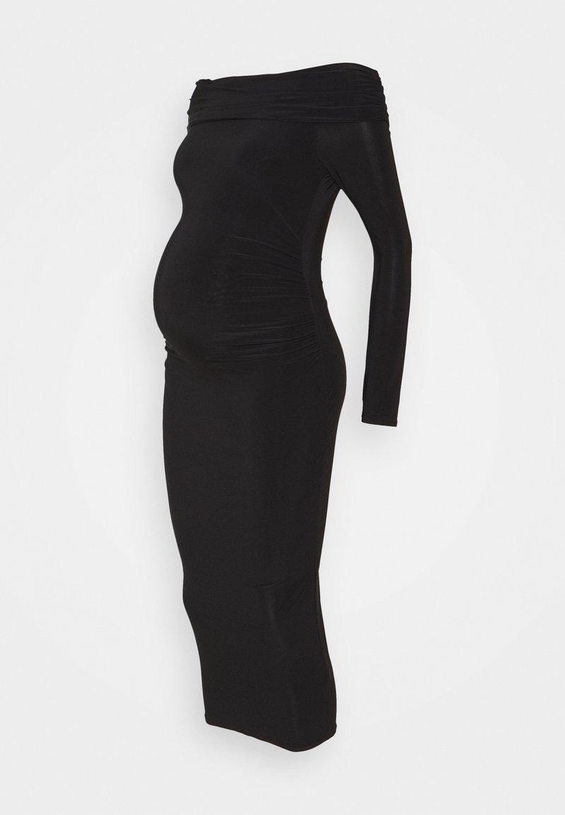 Missguided Maternity - SLINKY BARDOT DRESS - Jersey dress - black