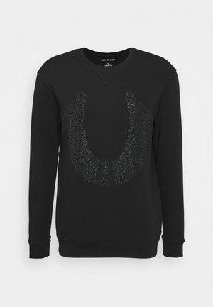 CREW NECK HORSESHOE - Sweater - black