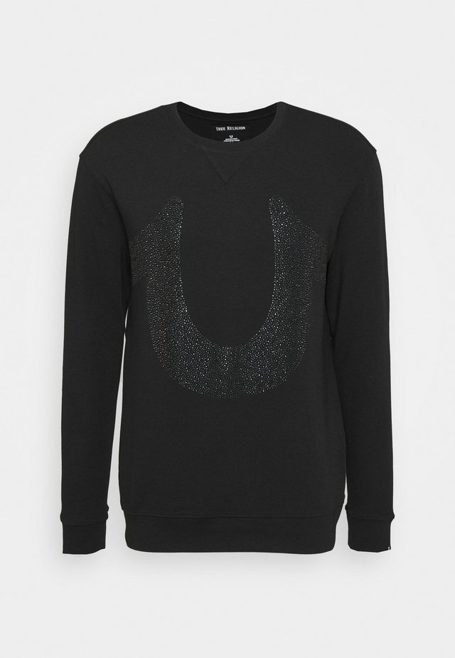 CREW NECK HORSESHOE - Sweater - black