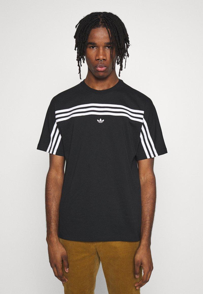 adidas Originals - SPORT COLLECTION SHORT SLEEVE TEE - Camiseta estampada - black/white