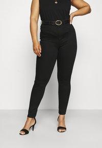 Dorothy Perkins Curve - PREMIUM EDEN - Slim fit jeans - black - 0