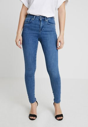 ONLPOWER MID PUSH UP - Skinny džíny - medium blue denim