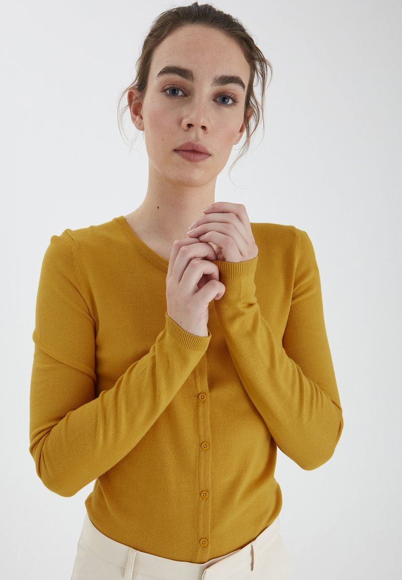 ICHI - MAFA O CA NOOS - Cardigan - mineral yellow