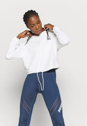 PAMELA REIF X PUMA FULL ZIP HOODIE - veste en sweat zippée - star white