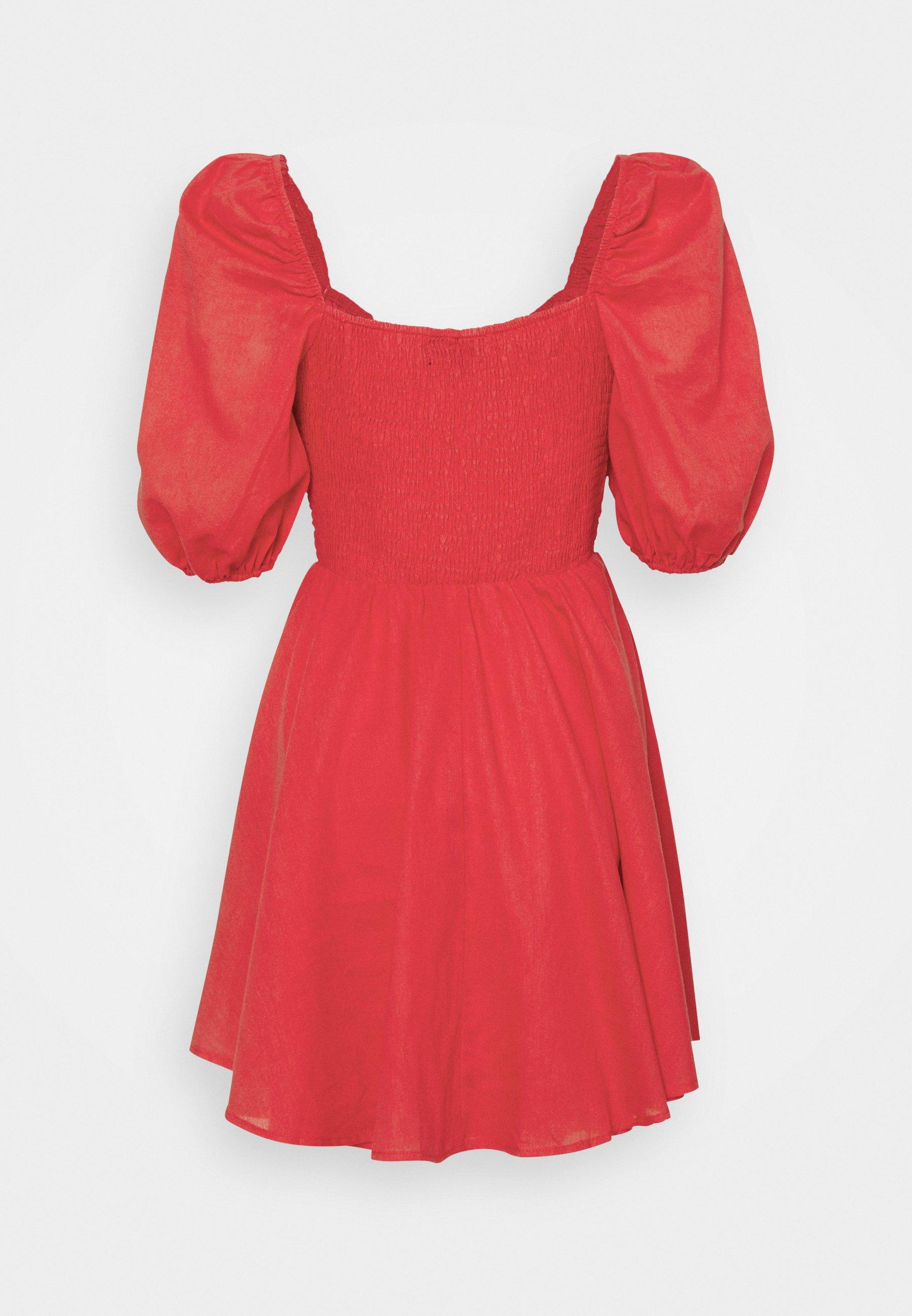 Mujer MILKMAID SHIRRED WAIST DRESS - Vestido informal