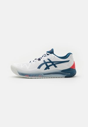 GEL RESOLUTION 8 - All court tennisskor - white/mako blue
