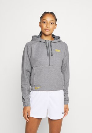 FC BARCELONA DRY HOODIE - Mikina s kapucí - charcoal heather/amarillo