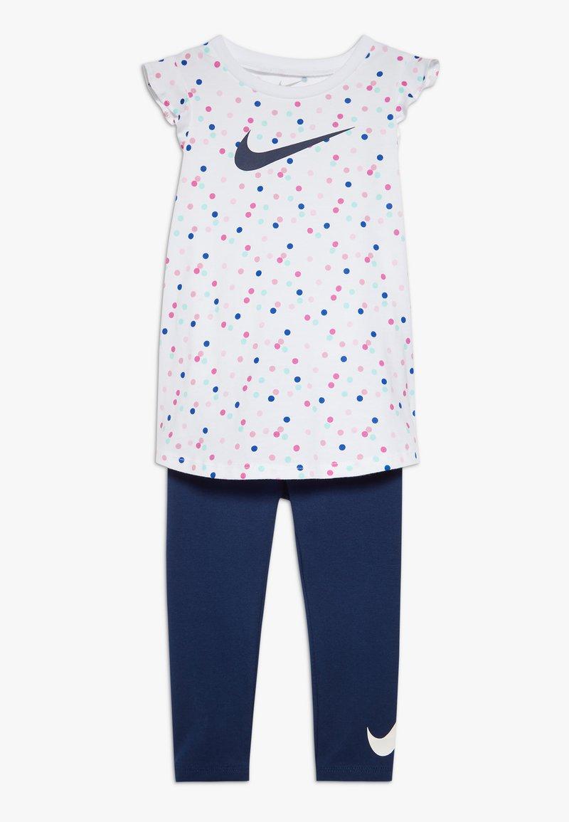 Nike Sportswear - DOT TUNIC SET BABY - Leggings - Trousers - blue void