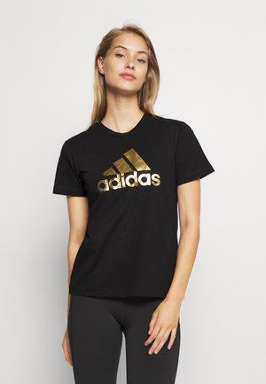 UNIVVOL TEE - Print T-shirt - black