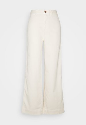 WIDE LEG - Chinos - ivory frost