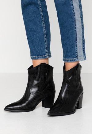 MILCA - Cowboy/biker ankle boot - black