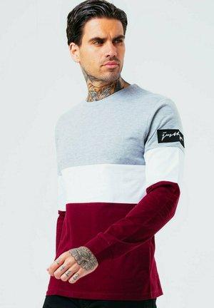 Langærmede T-shirts - red/white