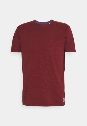 SHORT SLEEVE NECK BINDING - Basic T-shirt - grape red