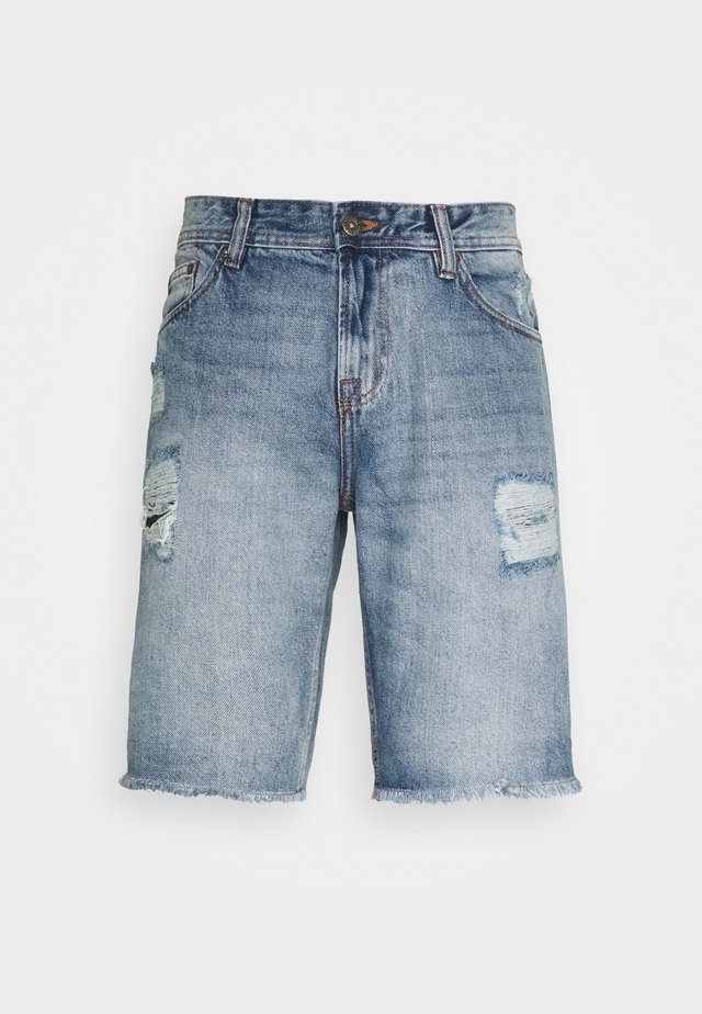 Jeans Short / cowboy shorts - high blue