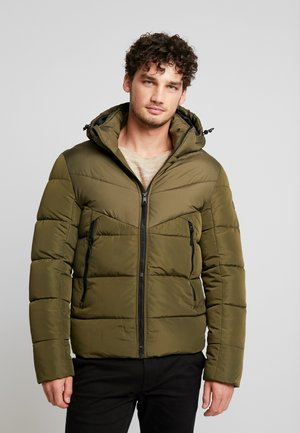 HEAVY PUFFER JACKET - Zimní bunda - olive night green