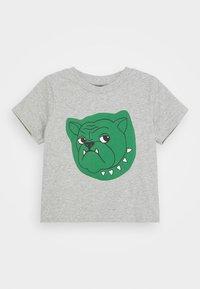 Mini Rodini - BABY BULLDOG TEE UNISEX - Print T-shirt - grey melange - 0
