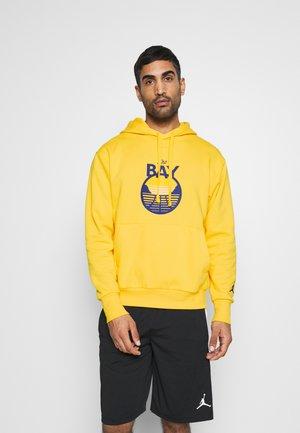 NBA GOLDEN STATE WARRIORS STATEMENT LOGO HOODIE - Club wear - amarillo/rush blue