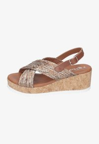Piazza - Wedge sandals - taupe - 0