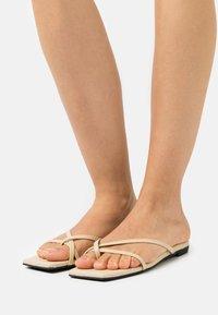 Monki - T-bar sandals - beige - 0