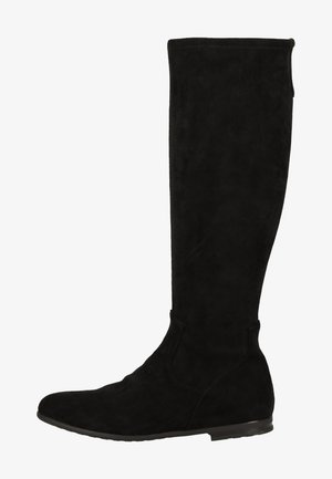 Cowboy/biker ankle boot - black stretch 044
