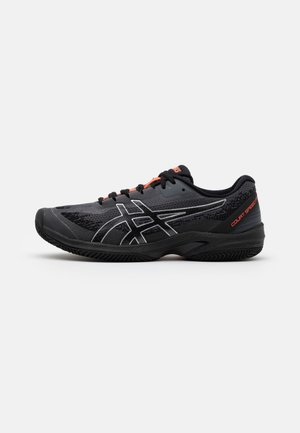 COURT SPEED FF L.E. CLAY - Tennisskor för grus - black/sunrise red