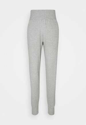 SLIM FIT HIGH WAIST JOGGER - Tracksuit bottoms - mottled light grey