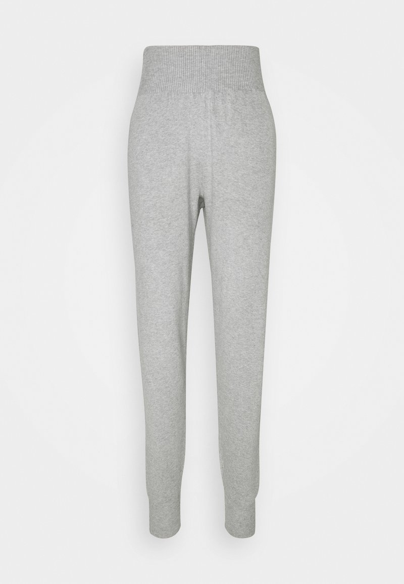 Anna Field - SLIM FIT HIGH WAIST JOGGER - Tracksuit bottoms - mottled light grey