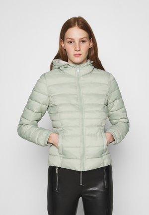 ONLNEWTAHOE CONTRAST HOOD JACKET  - Light jacket - desert sage/pumice stone