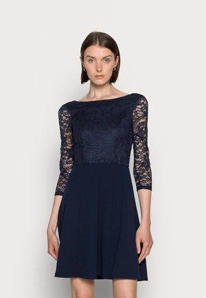 QUARTER SLEEVES OCCASION MINI DRESS - Koktejlové šaty/ šaty na párty - dark blue